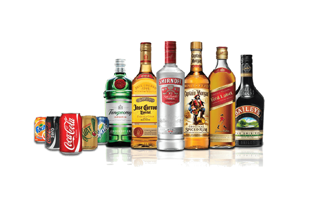 All kinds of beverages, alcoholic and non-alcoholic